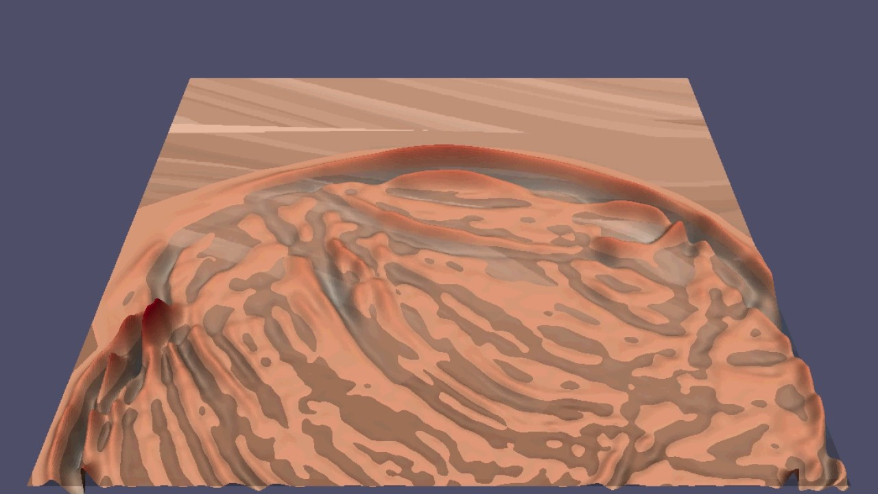 Wave propagation simulation in 2D